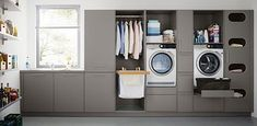 Who says utility rooms have to be boring. When attention to detail is your thing call taylorscot always thinking outside the box!… Like the built in storage for galley style laundry room with window Utility Room Storage, Laundry Room Organization, Storage Room, Built In Storage, Storage Ideas, Storage Shelves, Utility Room Ideas, Storage Solutions, Utility Sink