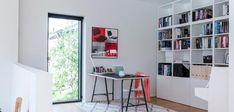 Billeder af Funkis huse - Se de mange muligheder i Funkis husene Beautiful Space, Bookcase, Shelves, Living Room, Interior Design, Inspiration, Home Decor, Spaces, Future