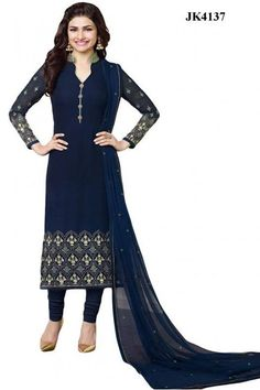 INQUIRY WHATSAPP /  Call- 91 9624913609 Women's Semi-Stitched Dark Blue Colour Smart And Elegant Georgette Dress Material For Special Occasion http://www.justkartit.com/anarkali-style-wedding-wearCasual-wear-embroidery-dress-material-2017daily-wear-heavy-dressesstraight-dress-materialwhite-indian-ethnic-wearindian-ethnic-wear-2017Pakistani-dress-material?utm_source=dlvr.it&utm_medium=facebook&utm_campaign=justkartit #Diwali