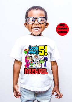 Teen Titans-GO Birthday Custom Cartoon T-shirt for Kids and Parents (all family members)   PLEASE READ THIS BEFORE PURCHASE  Your custom Birthday