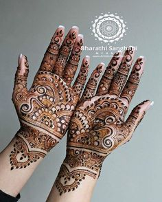 Mehndi, also known as henna across the globe, is a paste often associated with good fortune and positivity. It is one of the oldest forms of body art originated… Henna Tattoo Designs Simple, Finger Henna Designs, Henna Art Designs, Mehndi Designs For Beginners, Mehndi Simple, Mehndi Designs For Hands, Mehandhi Designs, Indian Mehndi Designs, Modern Mehndi Designs