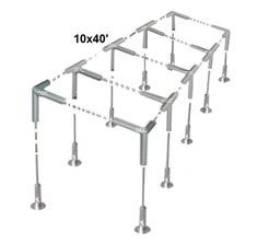 """Slant Roof Canopy Fittings+Tarp Kit: Greenhouse Deck Carport Tent Shade 1-3/8""""   eBay Carport Canopy, Deck Canopy, Pvc Connectors, Carport Covers, Boat Garage, Replacement Canopy, Galvanized Steel, Shades"""