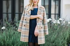 Paper Crown drop waist dress and checked jacket