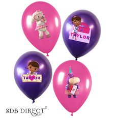 Doc Mcstuffins Printable Balloon Images, Centerpiece, Doc Mcstuffins Birthday, Doc Mcstuffins Party, Doc Mctsuffins Supplies Printable. $6.99, via Etsy.
