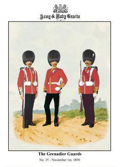 British; Grenadier Guards c.1888 by R.Simkin