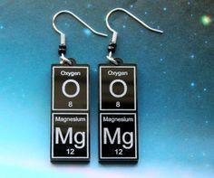 OMg   periodic table earrings