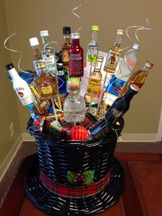 Christmas gift basket ideas for mom and dad