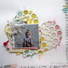 Scrapbook layout by Ranga Sophie  #scrapbook #scrapbooking #layout #rangasophie #heart #nöicsizmadesign