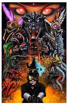 Matt Frank's Godzilla Battle Royal poster that debuted at G-fest XXI