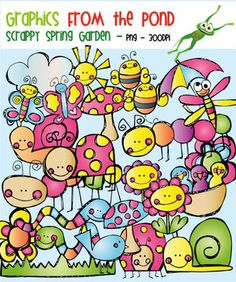 Spring Garden (Scrappy) - Clipart Set for Teachers