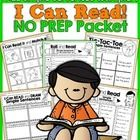 Building FLUENCY and CONFIDENCE is such an important aspect in learning how to read.  This I Can Read Simple Sentences NO PREP Sampler packet is fr...