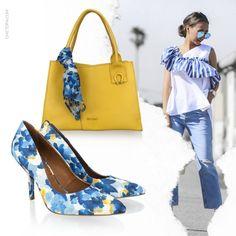 A dois passos da sexta-feira, merecemos um look cheio de vida! Compre a bolsa e o scarpin no shop.miezko.com #miezko #ootd