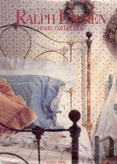 Ralph Lauren, Spring 1990 Magazine Cover for feature article on Antique Iron Beds by Cathouse