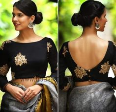 11 Trending Blouse Designs In 2019 That Will Impress You Source by bckfranzis Our Reader Score[Total: 0 Average: Related Latest Trending Silk Saree Blouse Designs - candlesNew Look Indian Blouse Designs, Saree Blouse Neck Designs, Fancy Blouse Designs, Latest Blouse Designs, Boat Neck Saree Blouse, Saree Blouse Long Sleeve, Sleeveless Saree Blouse, Pattern Blouses For Sarees, Designer Saree Blouses