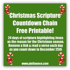 Free Christmas Advent Chain Printable {One for activities and one for scriptures}#Repin By:Pinterest++ for iPad#