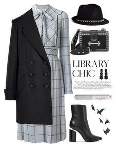 """Library Chic"" by sukia ❤ liked on Polyvore featuring Valentino, Alexander Wang, Prada, Isabel Marant, Melissa, Simone Rocha, Deborah Lippmann and Jayson Home"