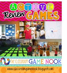 One Stop Teacher Shop - Teaching Resources for Upper Elementary: Using Active… Grammar Games, Math Games, Math Activities, Learning Games, Educational Games, Test Games, Class Games, Kids Learning, Upper Elementary