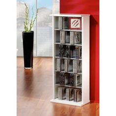 Buy VCM Vostan CD / DVD Storage Tower - White from our CD u0026 DVD Shelves range at Tesco direct.  sc 1 st  Pinterest & This is shelving media storage tower offers a lot storage space for ...