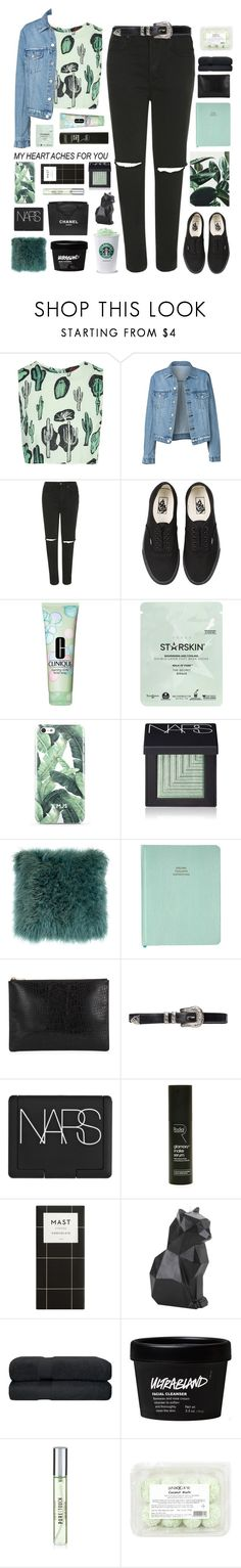 """""""Untitled #2401"""" by tacoxcat ❤ liked on Polyvore featuring Motel, Topshop, Vans, Clinique, Starskin, NARS Cosmetics, Whistles, Rodial, PyroPet and Chanel"""