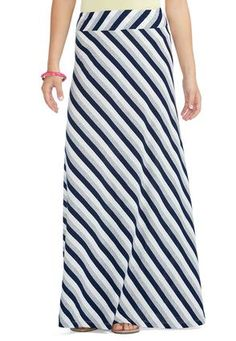 5e4f3686cbc Cato Fashions Striped Diagonal Knit Maxi Skirt-Plus  CatoFashions   CatoSummerStyle Cute Modest Outfits