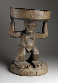 Stool Africa, Democratic Republic of the Congo, Songye peoples, 20th century Furnishings; Furniture Wood Height: 18 1/2 in. (47.0 cm) Gift of Lee and Rada Bronson (AC1996.211.9) African Art