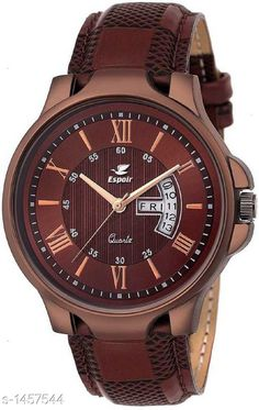 Watches Trendy Analog Men's Watch Material: Leather  Size : Free Size Type: Analog Description: It Has 1 Piece Of  Men's Watch Country of Origin: India Sizes Available: Free Size   Catalog Rating: ★4.1 (519)  Catalog Name: Espoir Men's Casual Analog Watches CatalogID_189122 C65-SC1232 Code: 812-1457544-024