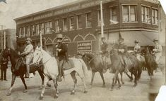 Teddy Roosevelt riding in Rough Riders reunion parade, Sixth Street and Douglas Avenue, Las Vegas, New Mexico Date: 1899 Negative Number 005990 The Spanish American War, American History, New Mexico History, Mexican Army, Santa Fe Trail, Las Vegas City, Rough Riders, History Museum, Photo Postcards