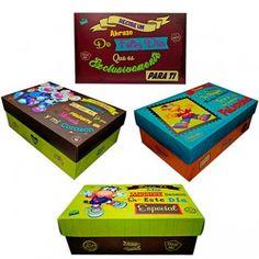 Cajas de Regalo Chocolates, Decorative Boxes, Happy Birthday, Bag Packaging, Breakfast Tray, Bright Colours, Happy Brithday, Chocolate, Urari La Multi Ani