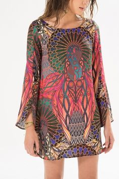 short dress with ethnic design Cute Dresses, Casual Dresses, Short Dresses, Casual Outfits, Summer Dresses, I Love Fashion, Boho Fashion, Fashion Outfits, Womens Fashion