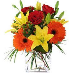 Mix Flowers in Vase 24 Flowers