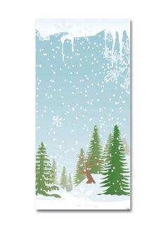 Schneewald Motivdruck Papier