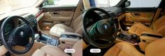 E38 740 complete interior color change from factory sand/beige to caramel/black (inspired by E39 M5 caramel/black) - album with some before and after and during photos #BMW #cars #M3 #car #M4 #auto