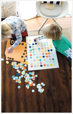 A fun and kid-friendly DIY: making dot art.