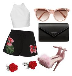 """""""rosas"""" by karlapacheco-mor on Polyvore featuring Valentino, Victoria Beckham and Balenciaga"""