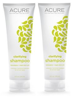 Acure Organics Lemongrass and Argan Oil Stem Cell Volume Natural Shampoo 8 fl oz Pack of 2 *** Special  product just for you. See it now! : Organic Skin Products