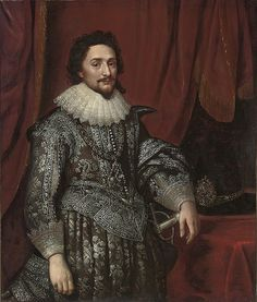 Studio of Michiel Jansz. van Mierevelt (Delft , Portrait of Frederick V of Bohemia, the Winter King, Elector Palatine three-quarter-length, in a black coat with silver embroiderey
