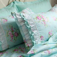 Green+Rose+Blossom+Pillow+Sham+Bridal+Bedding+Duvet+by+LovelyDecor,+$32.70