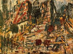 LEON KOSSOFF Demolition of the YMCA Building, London 1971 Private Collection