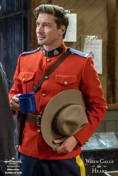 Jack (Daniel Lissing) begins the day with his coffee and a crisp uniform. Watch a new episode of When Calls the Heart every Sunday 9/8c on Hallmark Channel. #Hearties #HallmarkChannel  #WCTH