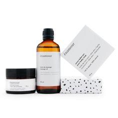 Enamour - Kit de départ contenant  huile de massage, pommade fesses, savon bébé pur.