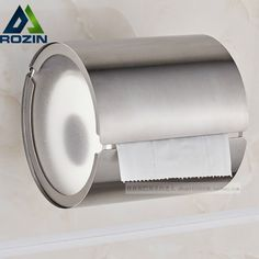 (26.19$)  Watch here - http://aiby5.worlditems.win/all/product.php?id=32598282230 - Stainless Steel Bathroom Tissue Roller Case Wall Mounted Toilet Paper Holder Brushed Nickel Finish