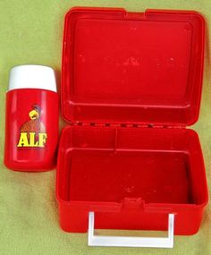 """FREE U.S. Shipping From 1987! TV Show """"Alf"""" Plastic Lunchbox W/Thermos! RETRO"""