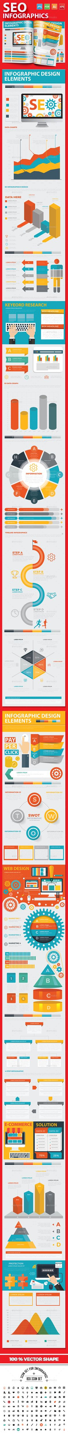 SEO Development Infographics — Vector EPS #optimization #seo infographics • Available here ➝ https://graphicriver.net/item/seo-development-infographics/20860759?ref=pxcr