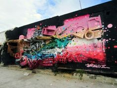 Portuguese street artist Artur Bordalo, aka Bordalo II