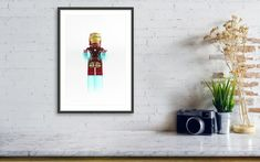Modern Art Prints, Wall Art Prints, Poster Prints, Kids Room Wall Art, Home Decor Wall Art, Lego Decorations, Superhero Wall Art, Toddler Room Decor, Lego Pictures