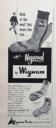 e28051cb7a1 1955 AD(ODL23)~HAND KNIT HOSIERY CO. SHEBOYGAN