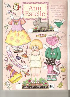 (⑅ ॣ•͈ᴗ•͈ ॣ)♡                                                             ✄Paper Doll Ann Estelle
