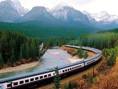 beautiful_nature_and_landscape_canada_photography_3 Zug Wallpaper, Train Wallpaper, Photo Wallpaper, By Train, Train Tracks, Train Rides, Train Trip, Banff National Park Canada, Banff Canada