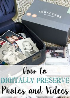 How to Digitally Preserve Photos and Videos | http://blesserhouse.com - The easiest way to clean out old memories, photos, VHS, cassette tapes, reels, and transfer them digitally. #sponsored