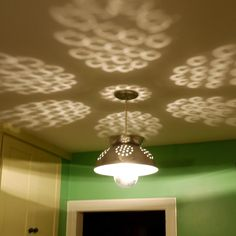 I want to make a Colander lamp/spotlight for kids room
